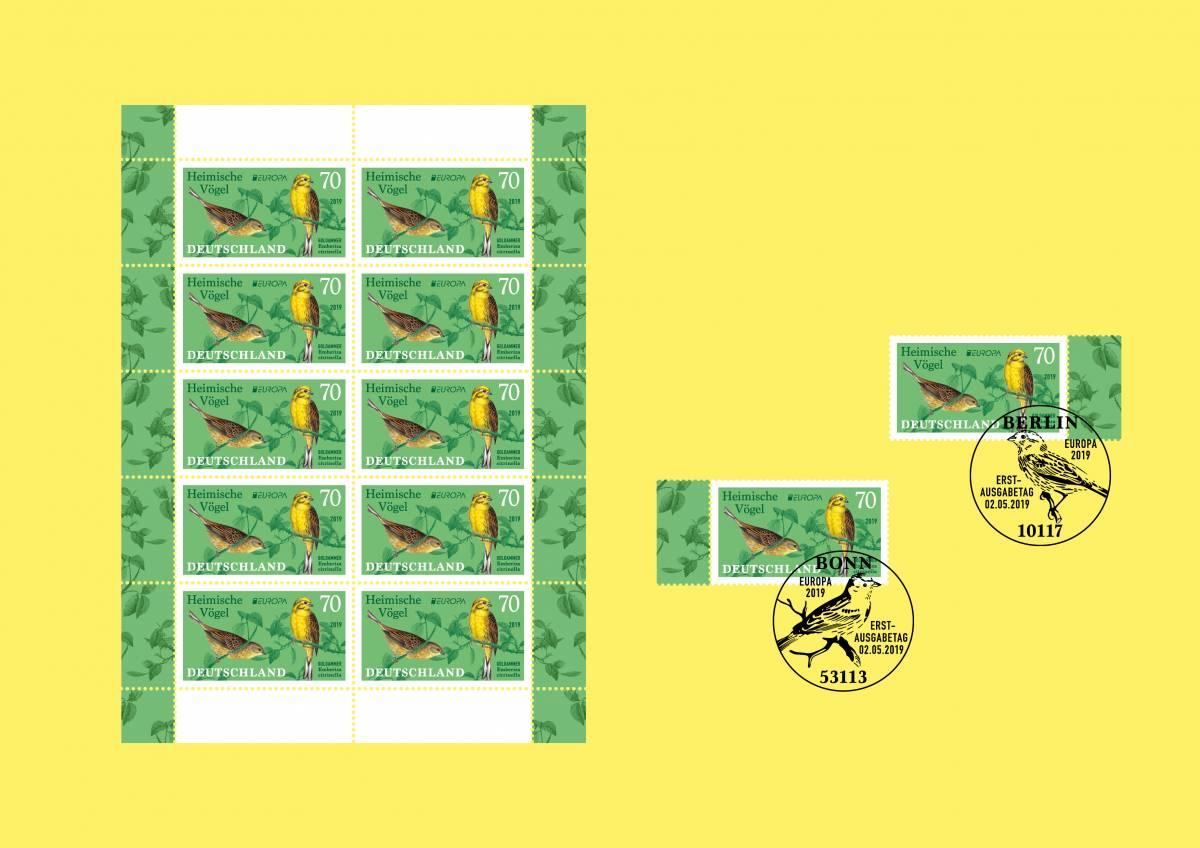nexd | Sonderbriefmarke Heimische Vögel